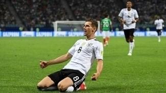 Goretzka marcou os dois primeiros gols da Alemanha