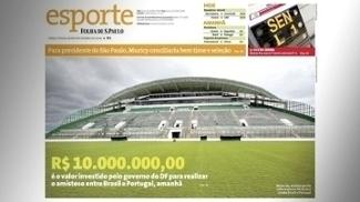 'Folha' de novembro de 2008 noticia investimento do governo do DF em amistoso em Brasília