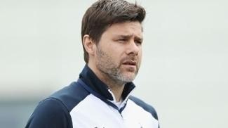 Mauricio Pochettino, técnico do Tottenham, durante treino