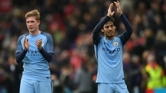 David Silva, Kevin De Bruyne, Manchester City, Premier League, 2017