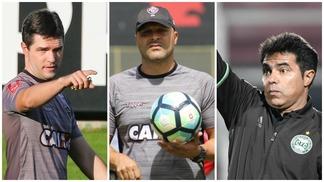 Os interios Diogo Giacomini (Atlético-MG), Flávio Tanajura (Vitória) e Robson Gomes (Coritiba),