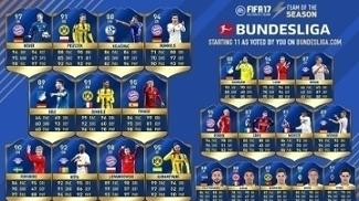 Já campeão, o Bayern de Munique é a base da 'seleção' da Bundesliga.