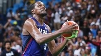 Kevin Durant em ação pelos EUA na Olimpíada do Rio de Janeiro