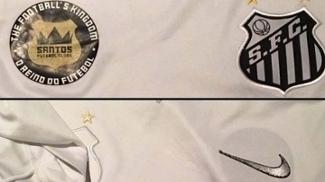 Parceiro da Kappa, Santos usa uniforme da Nike camuflado por logotipos em jogo festivo