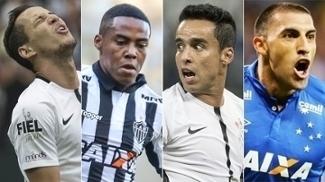 Rodriguinho, Jadson (Corinthians), Elias (Atlético-MG) e Ábila (Cruzeiro) estão entre pendurados das finais dos Estaduais