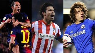 Adriano. Diego Costa e David Luiz: os concorrentes da semana no Prêmio Futebol no Mundo