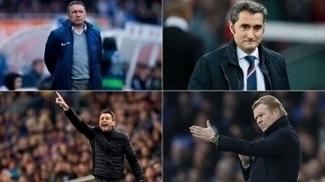 Sacristán, Valverde, Unzue e Koeman: os quatro candidatos a técnico do Barça