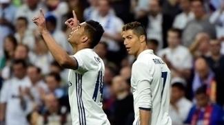 Casemiro abriu o placar para o Real Madrid