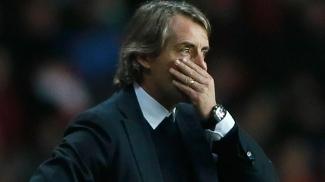 Mancini, durante a derrota do Man City para o Southampton