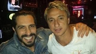 Rodrigo Costa ao lado de Paulo Nunes