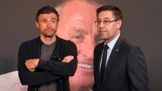 Presidente do Barcelona garante que pretende renovar contrato com Luis Enrique