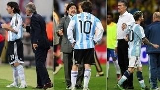 De Pékerman a Bauza, passando por Maradona: oito já comandaram Messi na Argentina