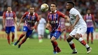Bahia e Vitória empataram por 1 a 1 na primeira partida da final do Campeonato Baiano