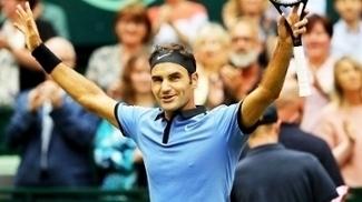 Roger Federer Comemora ATP 500 Halle 24/06/2017