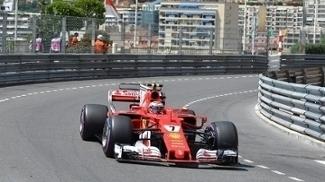 Kimi Raikkonen, da Ferrari, fez a pole no Grande Prêmio de Mônaco de Fórmula 1