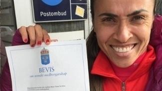 Marta agora é, além de brasileira, cidadã sueca