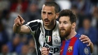 Bonucci e Messi trocaram camisas nesta quarta