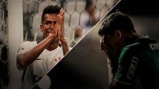 Jô e Dudu são titulares nos ataques de Corinthians e Palmeiras