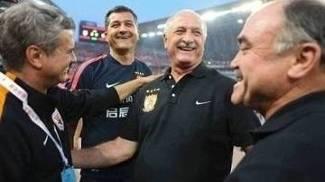 O técnico Luiz Felipe Scolari, na China