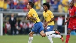 Philippe Coutinho fez três gols sobre o Haiti