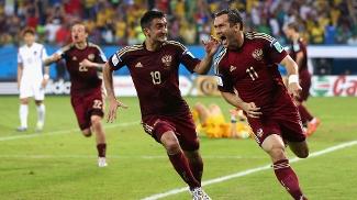 Seleção russa, durante Copa do Mundo de 2014