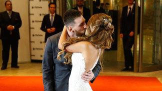 Messi e Antonella se casaram na noite desta sexta-feira
