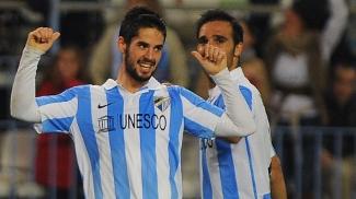 Isco comemora após marcar contra o Valencia