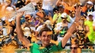 Roger Federer: festa em Miami após aula de tênis na final contra Nadal
