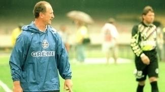 Scolari com o Grêmio no Brasileiro de 1996