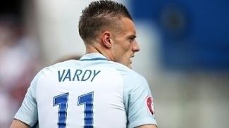 Vardy Comemora Gol Inglaterra Pais de Gales Euro-2016 16/06/2016