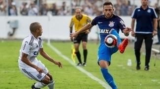 Pedro Henrique, do Corinthians, em ação contra a Ponte Preta, pelo Campeonato Paulista