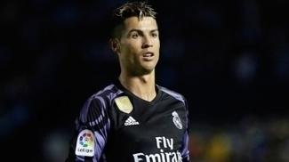 Cristiano Ronaldo durante o jogo do Real Madrid contra o Celta em Vigo