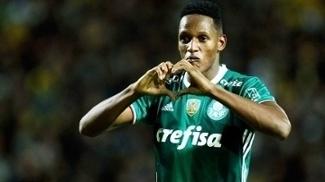 Yerry Mina Comemora Gol Palmeiras Peñarol Libertadores 26/04/2017