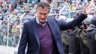 Edgardo Bauza após a derrota da Argentina para a Bolívia em La Paz