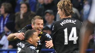 Modric comemora gol pelo Tottenham