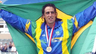 Fernando Meligeni após a conquista do ouro pan-americano em 2003