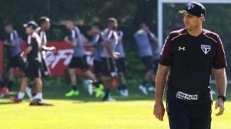 Rogério Ceni fez último treino antes de enfrentar o Palmeiras