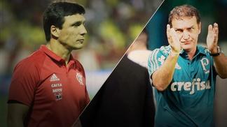 Flamengo e Palmeiras voltam a se enfrentar com mais de meio-time diferente