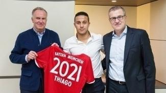 Thiago Alcântara está desde 2013 no Bayern