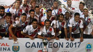 ee43c414d8 Jogadores do River Plate comemoram a conquista da Copa Argentina 2017