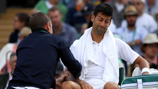 Djokovic abandonou no segundo set do jogo
