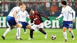 Ronaldinho Milan Manchester United Champions 16/02/2010