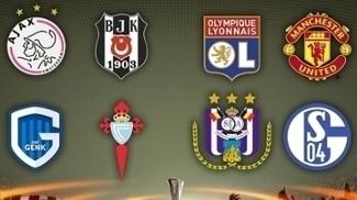Os oito classificados para as quartas de final da Liga Europa