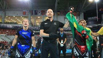 Faixa roxa de jiu-jitsu e única mulher na seleção, baiana de 22 anos é campeã mundial de MMA amador