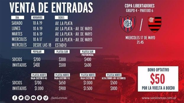 Rival do Flamengo vende ingressos com  bônus  aos torcedores na luta ... 8e2a4a2e53ddb