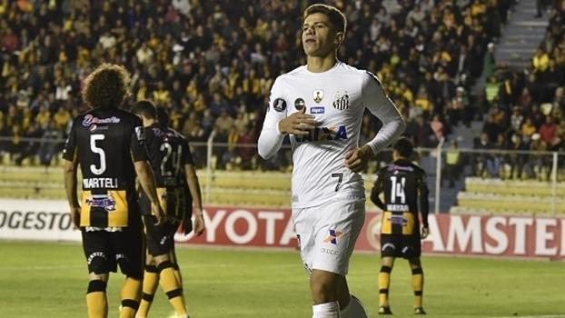 Vitor Bueno fez o gol do empate do Santos na Bolívia