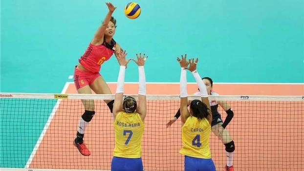 Brasil perde da China na estreia da fase final do Grand Prix