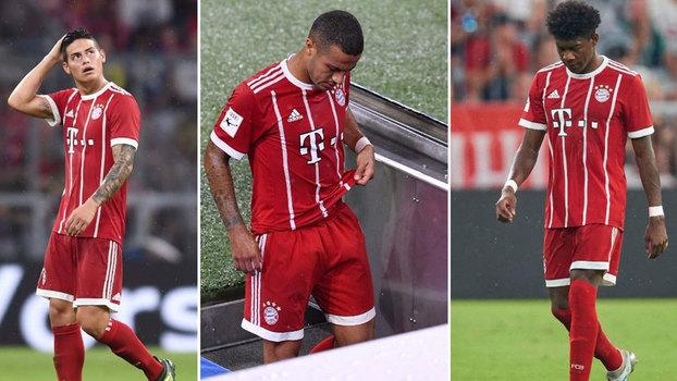 Bayern: James é baixa por semanas e falha Supertaça