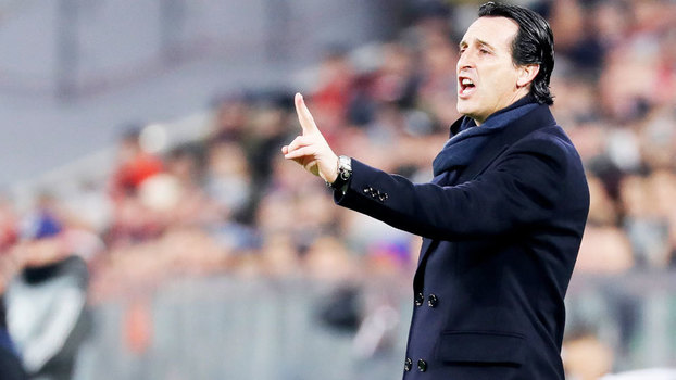 Unai Emery durante a derrota do PSG para o Bayern de Munique