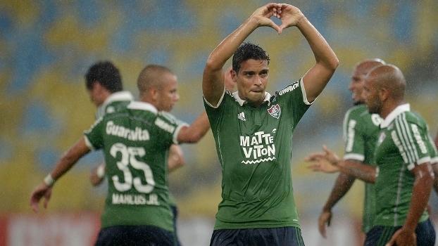 5cb57a5660 O volante Jean comemora gol pelo Fluminense contra a Chapecoense